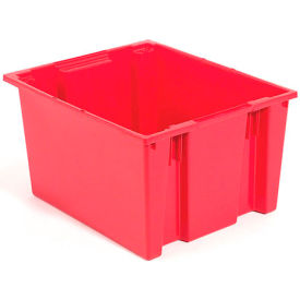 SNT300RD Stacking & Nesting Totes - Shipping SNT300 No Lid 29-1/2 x 19-1/2 x 15, Red