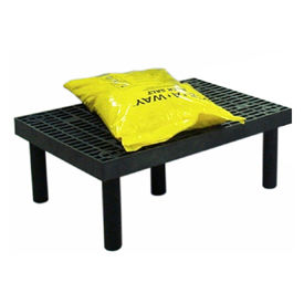 "D3624 Plastic Dunnage Rack with Vented Top 36""W x 24""D x 12""H"