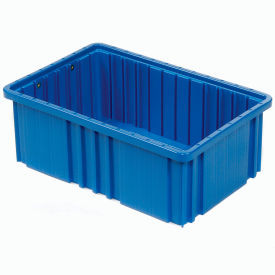 "DG92060BL Plastic Dividable Grid Container - DG92060,16-1/2""L x 10-7/8""W x 6""H, Blue"