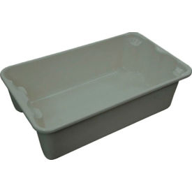 "7802085172 Molded Fiberglass Toteline Nest and Stack Tote 780208 - 17-7/8"" x10""-5/8"" x 5"" Gray"