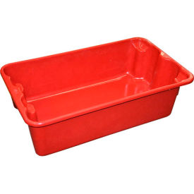 "780208-5280 Molded Fiberglass Nest and Stack Tote 780208 - 17-7/8"" x10""-5/8"" x 5"" Red"