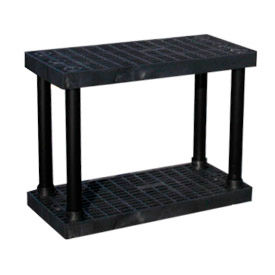 "S3616B Structural Plastic Vented Shelving, 36""W x 16""D x 27""H , Black"