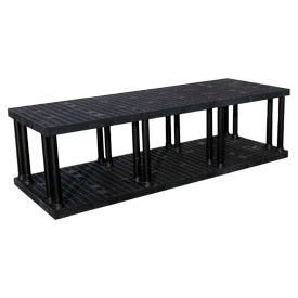 "S9636B Structural Plastic Vented Shelving, 96""W x 36""D x 27""H, Black"
