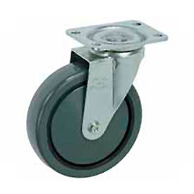"499-3-1/2 Faultless Swivel Plate Caster 499-3-1/2 3-1/2"" Polyurethane Wheel"