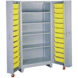 DD1125 Lyon Storage Cabinet With 5 Full Shelves 24 Tilt Bins DD1125 - 38x28x76 Gray