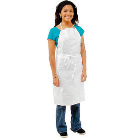 TY273BWH00010000 Disposable Tyvek; Apron, Case Of 100