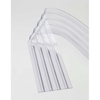 "000-786CP16 Replacement 12"" x 8 Scratch Resistant Ribbed Clear Strip for Strip Curtains"