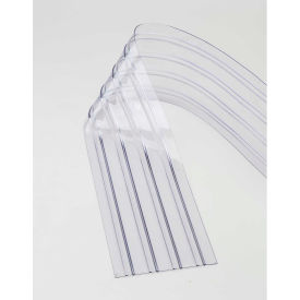"000-786CP17 Replacement 12"" x 9 Scratch Resistant Ribbed Clear Strip for Strip Curtains"