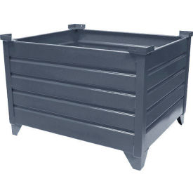 "51021 Topper Stackable Steel Container 51021 Solid, 30""L x 24""W x 24""H, Unpainted"