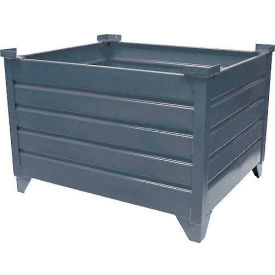 "51018 Topper Stackable Steel Container 51018 Solid, 42""L x 30""W x 24""H, Unpainted"