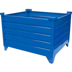 "51008B Topper Stackable Steel Container 51008B Solid, 48""L x 35""W x 24""H, Blue"