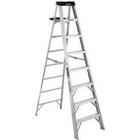 werner 8 type 1a aluminum step ladder - 378 Werner 8 Type 1A Aluminum Step Ladder - 378