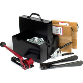 "SK48 Steel Strapping Kit With Two 1/2"" x 200 Coils, Tensioner, Sealer, Cutter & Case"