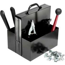 "SK68 Steel Strapping Kit With Two 3/4"" x 200 Coils, Tensioner, Sealer, Cutter & Case"