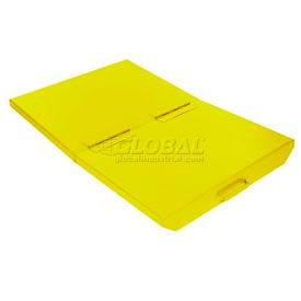 20033YL Lid for 2 Cu Yd Wright Yellow Self-Dumping Hopper