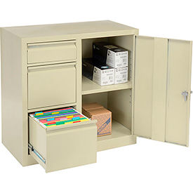 938121-Storage 2-In-1 Cabinet 2 File/1 Utility Drawers and 1 adj. Shelf