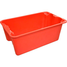 "7804085280 Molded Fiberglass Toteline Nest and Stack Tote 780408 - 20-1/2"" x 12-7/8"" x 8"", Pkg Qty 10, Red"