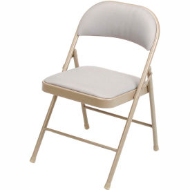 961 Steel Folding Chair with Padded Fabric - Beige