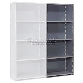 "236810 Steel Shelving 18 Ga 48""Wx18""Dx73""H Closed Clip Style 5 Shelf Add-On"