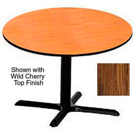 LR48RDMOX Premier Hospitality Round Restaurant Table - 48 Inch - Table Medium Oak