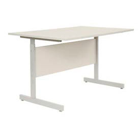 "500740GY Interion; Height Adjustable Computer Desk/Table, 60""W x 30""D x 26""- 28""H, Gray"