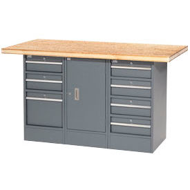 "239176 60""W x 30""D Shop Top 7 Drawer/1 Cabinet Workbench"