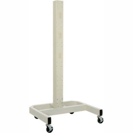 "239200BG 78""H Mobile Post with Caster Base - Beige"