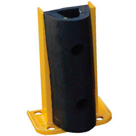 "G8-12-B Steel Rack Guard With Rubber Bumper 7.5""Wx3.75""Dx12""H"