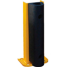 "G8-18-B Steel Rack Guard With Rubber Bumper 7.5""Wx3.75""Dx18""H"