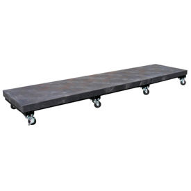 "PT2496 Mobile Plastic Dunnage Rack 96""W x 24""D (2000 Lbs Cap)"