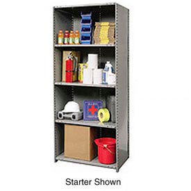 "A5520-12HG Hallowell Steel Shelving 20 Ga 36""Wx12""Dx87""H Closed Clip 5 Shelf Add-On"