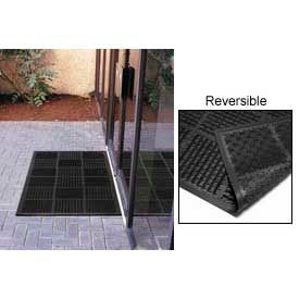 "227.716X3X6BK Outfront Scraper Outdoor Reversible Entrance Mat 7/16"" Thick Black 36x72"