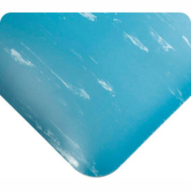 "420.12x2CUTAMBL Antimicrobial Tile Top Antifatigue Mat 1/2"" Thick 2 Ft Wide Up To 60 Ft Blue"