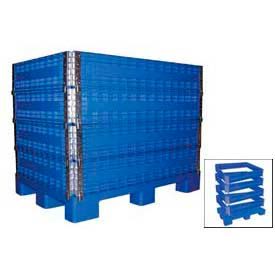 MULTI-C Vestil MULTI-C Multi-High Container 2000 Lbs Capacity, Blue