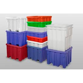 P340RED MODRoto Bulk Container With Lid P340 - 48x48x30, Red