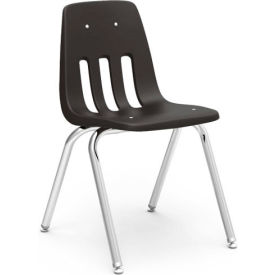 90879C59 Virco; 9018 Classic Series; Classroom Chair - Black Vented Back