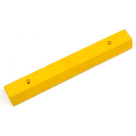 "268782YLA Parking Curb Recycled Plastic Yellow Asphalt Installation 36""Lx5-3/4""Wx3-1/2""H"
