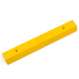 "268782YLC Parking Curb, Recycled Plastic, Yellow, Concrete Installation 36""L x 5-3/4""W x 3-1/2""H"