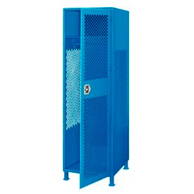 GL-2472-18-DL-BL Pucel All Welded Gear Locker With Door And Legs 24x18x72 Blue