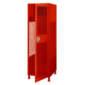 GL-2472-18-DL-RD Pucel All Welded Gear Locker With Door And Legs 24x18x72 Red