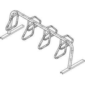 2436 Bike Fixation 7 Bike Square Tube Double Sided Surface Mount Bike Rack