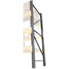 "LU24360144 Husky Rack & Wire LU24360144 Double Slotted Pallet Rack Upright Frame 144""H x 36""D"