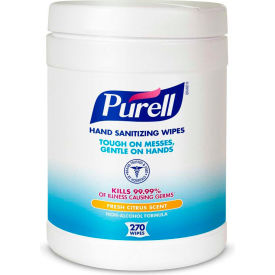 9113-06 Purell Sanitizer Wipes Canister - 6 Canisters/Case 9113-06