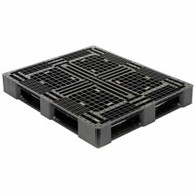 RP4840-6-I Black Rackable Plastic Pallet Black HDPE 48x40 Fork Capacity 4000 Lbs
