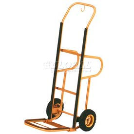 aarco deluxe brass hotel luggage hand truck ht-1b with backrest