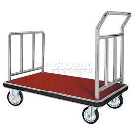aarco deluxe chrome luggage platform cart fb-1c 42 x 24 Aarco Deluxe Chrome Luggage Platform Cart FB-1C 42 x 24