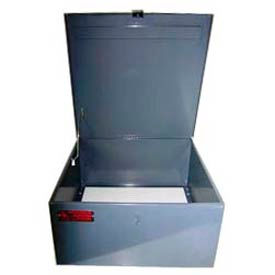 M17350  Steel Cabinet for Worksman Mover Industrial Tricycles w/ Lockable Hasp, 22x22x11