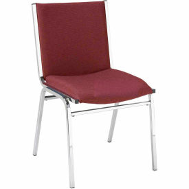 "420CH-1201 BURGUNDY FABRIC KFI Stack Chair - Armless - Fabric - 2"" thick Seat Burgundy Fabric"