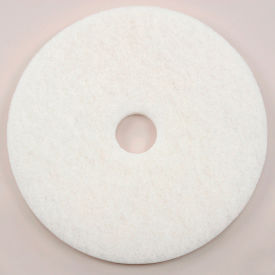 "401217 17"" White Polishing Pad - 5 Per Case"