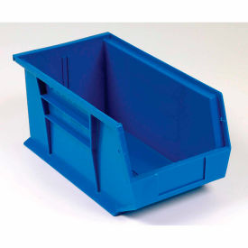QUS234BL  Global; Hanging & Stacking Storage Bin 5-1/2 x 14-3/4 x 5, Blue